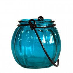 Soporte velas calabaza - Azul