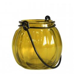 Soporte velas calabaza - Amarillo