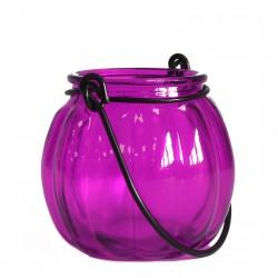 Soporte velas calabaza - Violeta