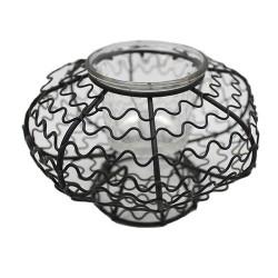 9 Soportes vela sombrilla metal y vidrio (Display 3 colores)
