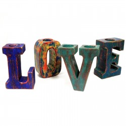 Letras grandes love - multicolor