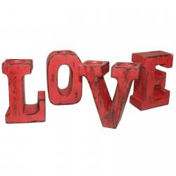 Letras grandes love - rojo decapado