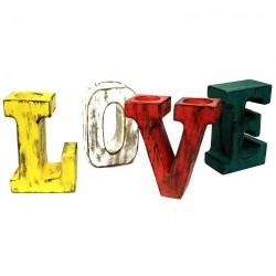 Letras grandes love - colores variados