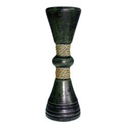 Candelabro verde y cuerda clásico