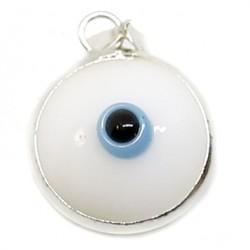Colgante ojo turco - blanco