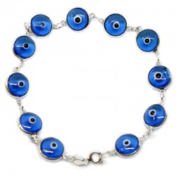 Pulsera ojo turco engarzada - Turquesa