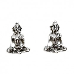Pendientes plata Buda