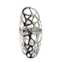 Anillo plata - ovalado mosaico G L