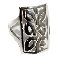 Anillo plata - celtas rectangular M