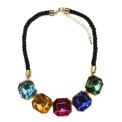 3 Gargantillas arcoiris 5 cristales