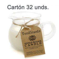 32 Velas soja masaje - tonificante y reafirmante (cartón)