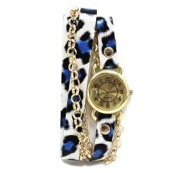 Reloj brazalete - leopardo azul