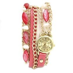 Reloj brazalete - rosa y nácar