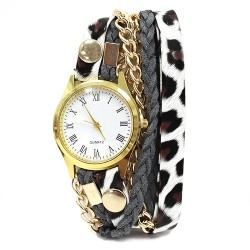 Reloj brazalete - leopardo