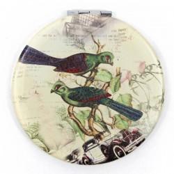 3 Espejos metálico - pájaros exóticos variados