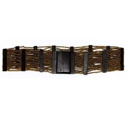 Cinturón ébano y hebilla cuadrada - translúcido