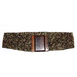 Cinturón multicolor - chocolate