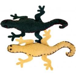 4 Broches fieltro - lagartijas