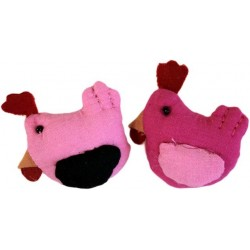 4 Broches fieltro - gallinas