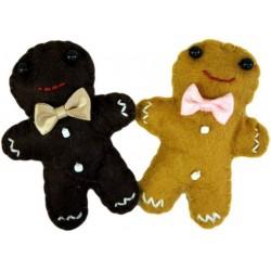 4 Broches fieltro - muñecos jengibre
