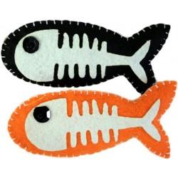 4 Broches fieltro - peces