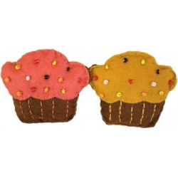4 Broches fieltro - cupcakes
