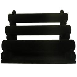 Expositor 3 barras negro
