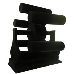 Expositor 6 barras negro