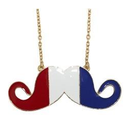 6 Colgantes bigotitos bandera Francia