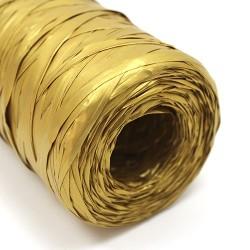 Rollo rafia sintética dorado 200m