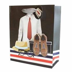 12 Bolsas de regalo lujo - calzado y ropa hombre