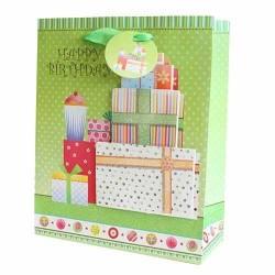12 Bolsas de regalo lujo - pastel y cumpleaños