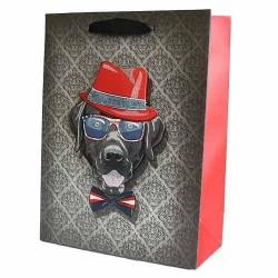 12 Bolsas de regalo lujo - perros tipo divertidos