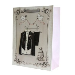 12 Bolsas de regalo lujo - boda elegante retro