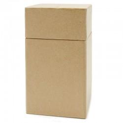 Caja cartón Kraft cuadrada
