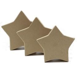 Set 3 cajas kraft estrellas