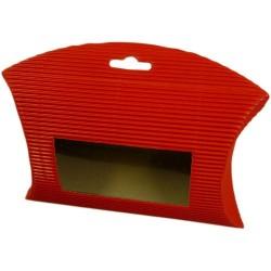 25 Bolsas acanaladas ventana - Roja
