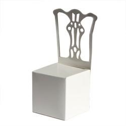 50 Cajitas silla boda blanca