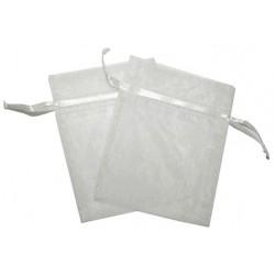 30 Bolsas organza 6x8cm - Blanca