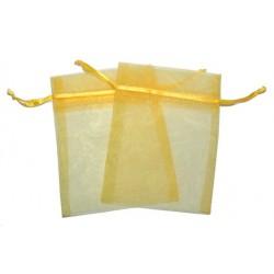 30 Bolsas organza 6x8cm - Amarilla