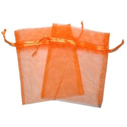 30 Bolsas organza 6x8cm - Naranja