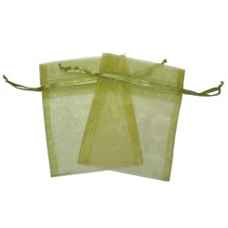 30 Bolsas organza 6x8cm - Verde