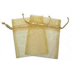 30 Bolsas organza 6x8cm - Oro