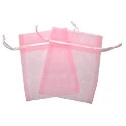 30 Bolsas organza 10x13cm - Rosa