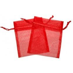 30 Bolsas organza 10x13cm - Rojo