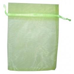 20 Bolsas organza 13x18cm - Verde Lima
