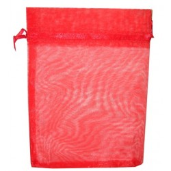 20 Bolsas organza 13x18cm - Rojo