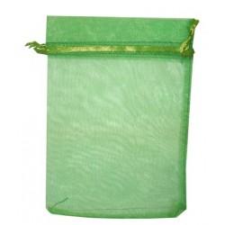 20 Bolsas organza 13x18cm - Verde hierba