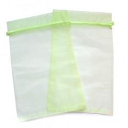 20 Bolsas organza 15x24cm - Verde lima