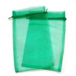 20 Bolsas organza 15x24cm - Verde hierba